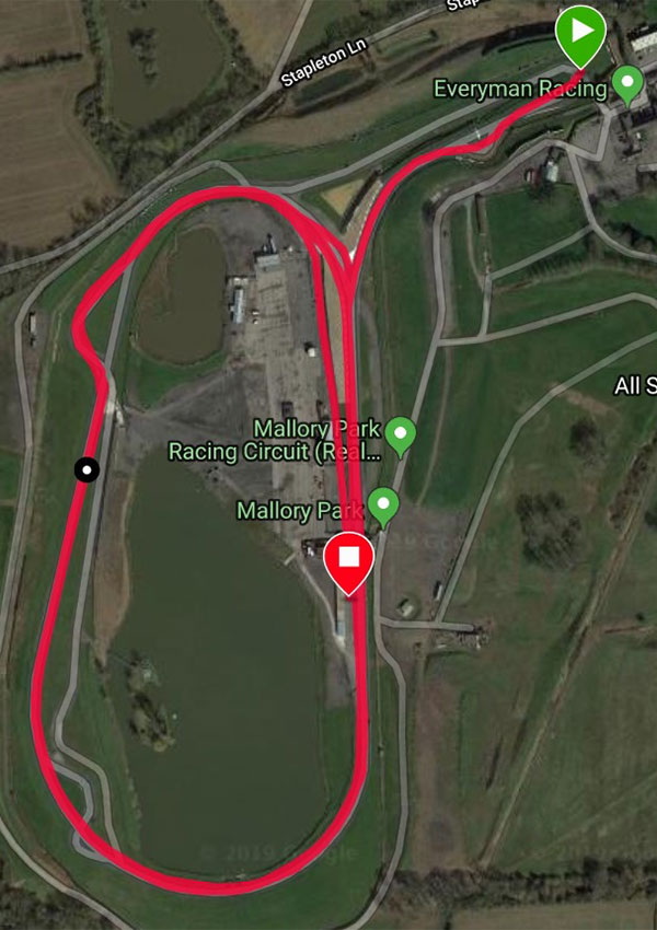 10 Mile Mallory Park Cycling Time Trial Course