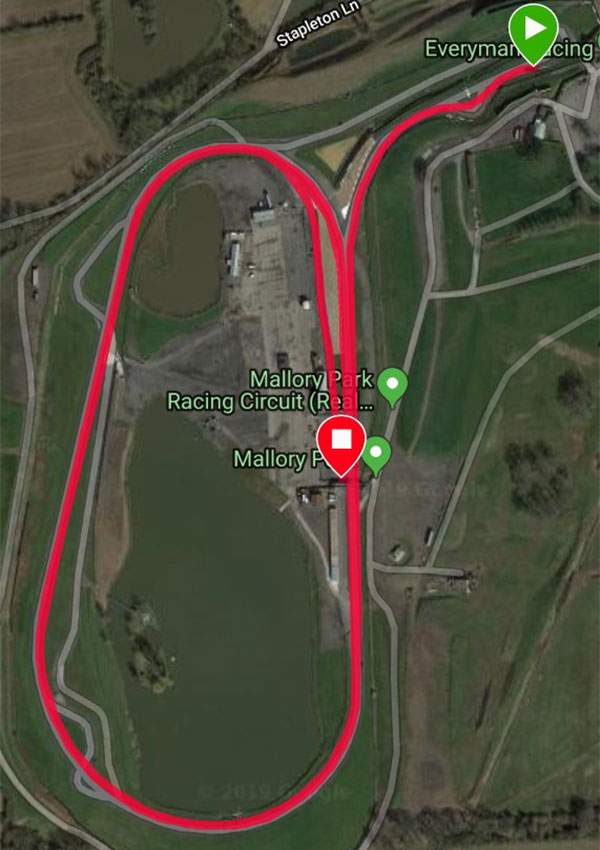 5 Mile Mallory Park Cycling Time Trial Course